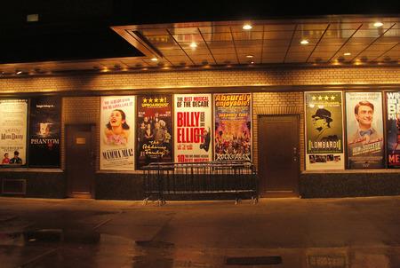 ニューヨーク ・ ブロードウェイのポスター 報道画像