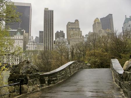 ニューヨーク - セントラルパーク、マンハッタンのスカイライン 写真素材