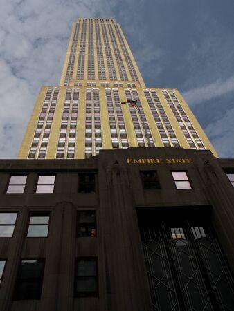 ニューヨークのエンパイア ・ ステート ・ ビルディング 報道画像