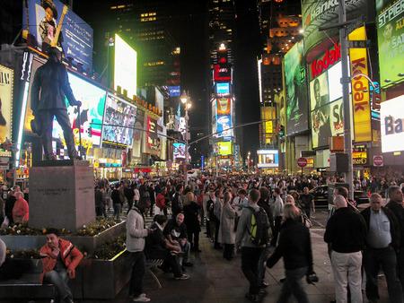 ニューヨーク - タイムズスクエアの夜