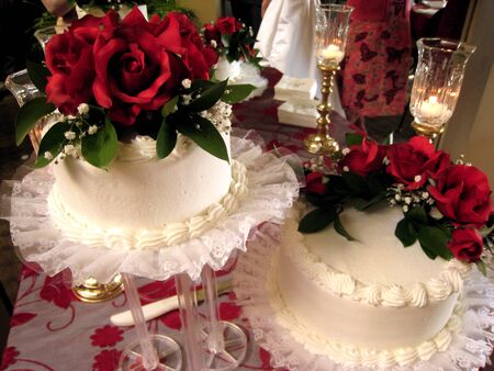 Wedding Cakes, Candles, and Roses