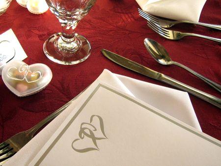 santa cena: Boda recepci�n cuadro  Foto de archivo