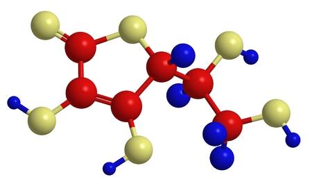 ascorbic: Molecular structure of vitamin C - ascorbic acid