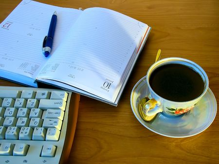 Coffee with computer key board