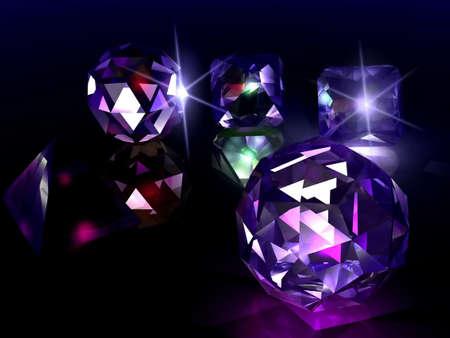 Brillante Diamanten Standard-Bild - 783744