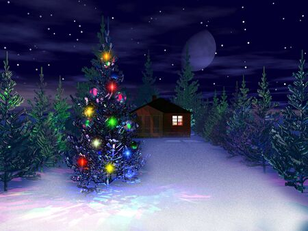 christmas and new year 3d
