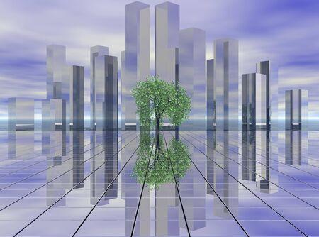 city of the future Standard-Bild