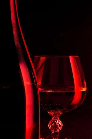 Wine and glass Standard-Bild