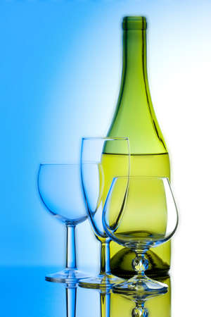 stock image: Wine and glass Stock Photo