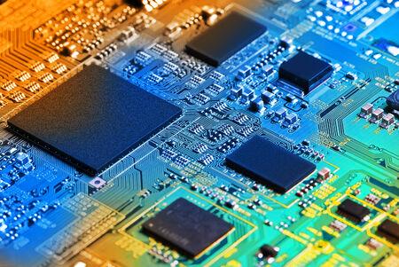 Carte électronique de circuit de près