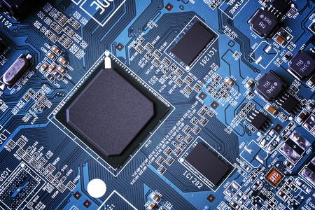 Electronic circuit board close up. 版權商用圖片