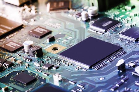 Electronic circuit board close up. Stock fotó