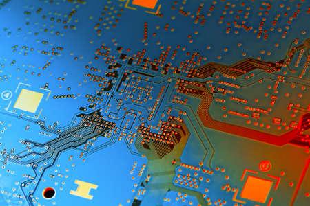 Electronic circuit board close up. Standard-Bild - 102126394