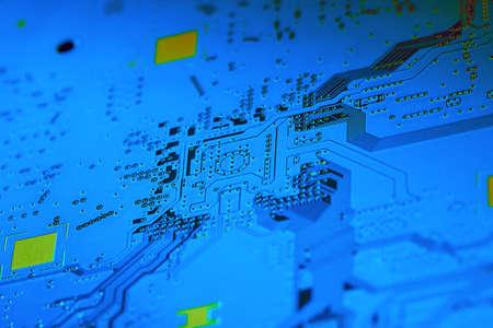 Electronic circuit board close up. Standard-Bild - 102148512