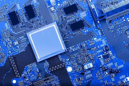 Electronic circuit board close up. Standard-Bild - 102126501