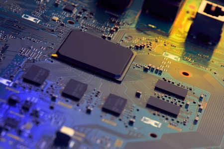 Electronic circuit board close up. Standard-Bild - 102088669