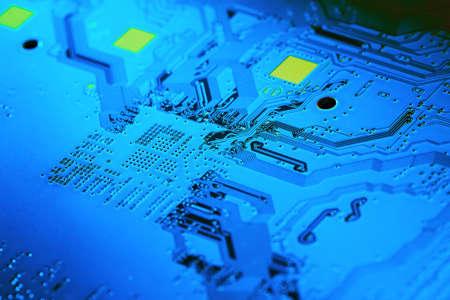 Electronic circuit board close up. Standard-Bild - 102148514