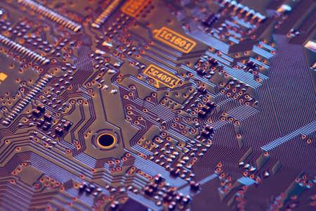 Electronic circuit board close up. Standard-Bild - 102095385