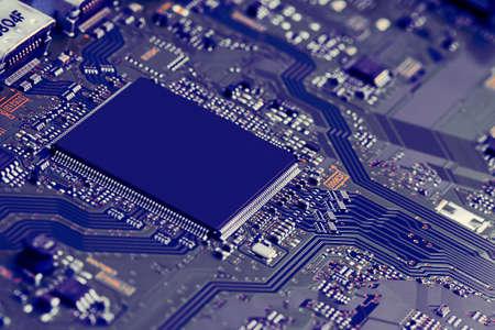 Electronic circuit board close up. Standard-Bild
