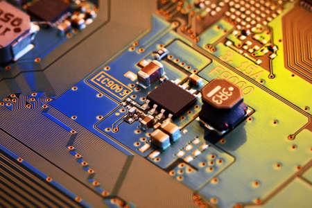 Electronic circuit board close up. Standard-Bild - 102095386