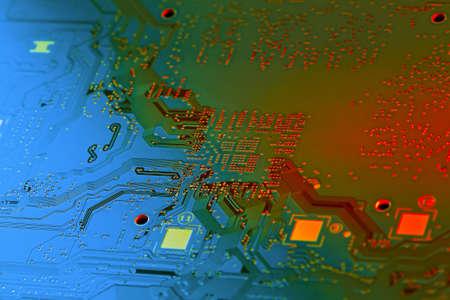 Electronic circuit board close up. Standard-Bild - 102148516