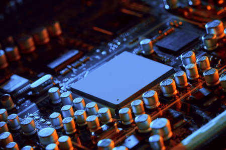 Electronic circuit board close up. Background can use the Internet, print advertising and design Standard-Bild