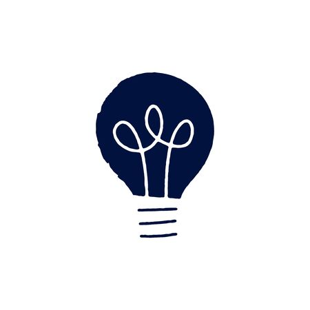 Light bulb Icon vector sign isolated for graphic and web design. Lightbulb solution idea and creativity symbol template color editable on white background.