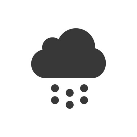 Cloud with rain icon. Stock vector illustration