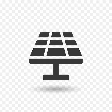 Solar Panel Solar Energy Icon. Stock vector illustration