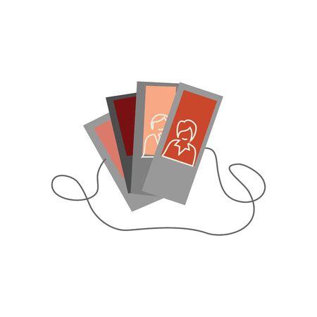Photo cards Vector Icon. Special design. Stock vector illustration