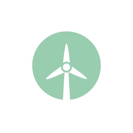 wind turbine icon. Stock vector illustration i Çizim