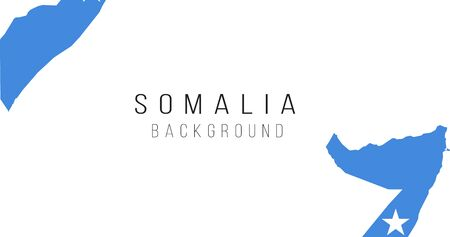 Somalia flag map background. The flag of the country in the form of borders. Stock vector illustration isolated on white background.