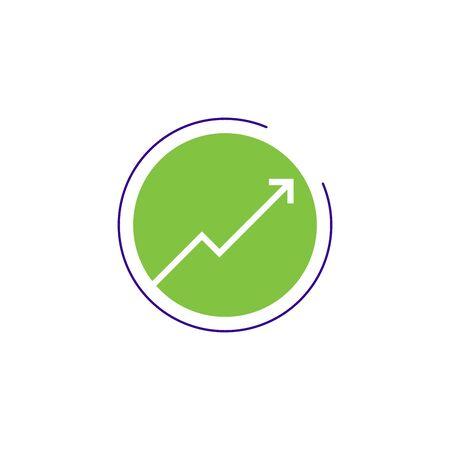 Stylish Arrow icon. Arrow pointing up Stock vector illustration