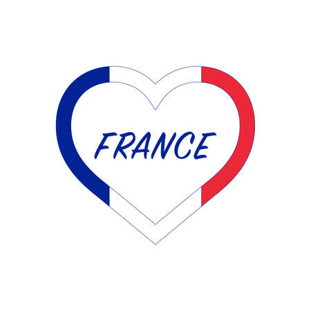 France flag in heart. I love my country. sign. Stock vector illustration 写真素材 - 150583367
