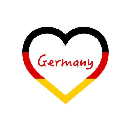 Germany flag in heart. I love my country. sign. Stock vector illustration 写真素材 - 150583374