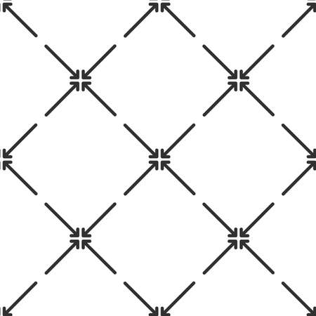 Exit full screen pattern linear style. Stock vector illustration isolated on white background. Ilustração