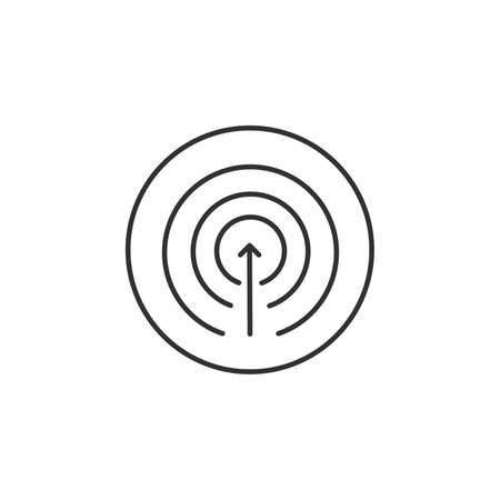Proactivity Icon Vector. Arrow inside the circles. Initiative Logo. Innovation Integration Symbol. Stock vector illustration isolated on white background.  イラスト・ベクター素材