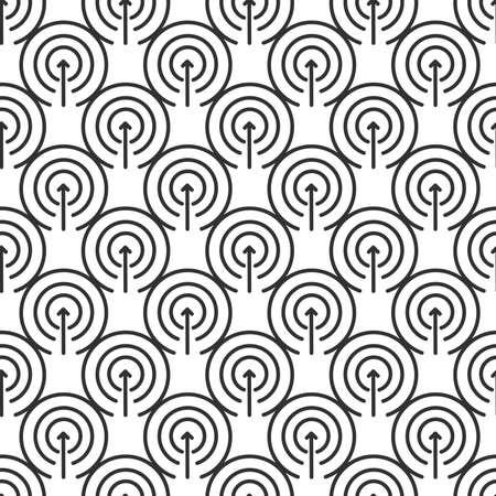 Proactivity pettern Vector. Arrow inside the circles. Initiative Logo. Innovation Integration Symbol. Stock vector illustration isolated on white background.  イラスト・ベクター素材