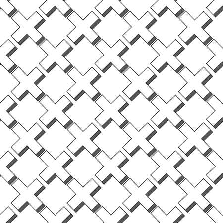 Seamless Cross Pattern. Stock vector illustration isolated on white background.  イラスト・ベクター素材