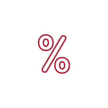 percentage icon. line design. Stock vector illustration isolated on white background.  イラスト・ベクター素材