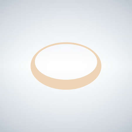 Gold ring. Golden metal circle. Stock vector illustration isolated on white background
