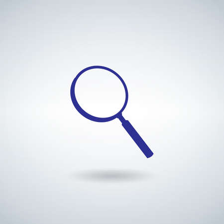 Magnify glass icon. Stock vector illustration isolated on white background