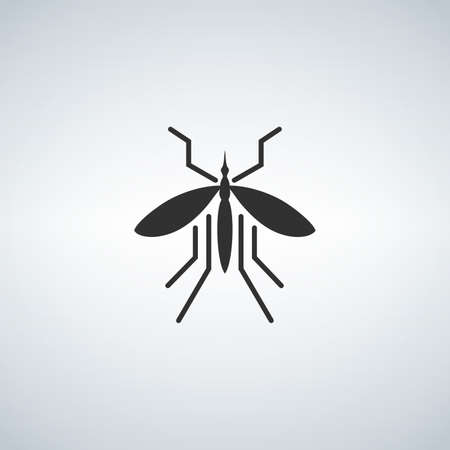 Mosquito icon vector, filled flat sign, solid pictogram isolated on white.
