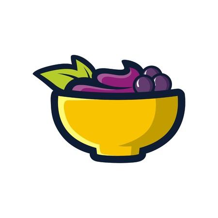 acai: A bowl of acai vector