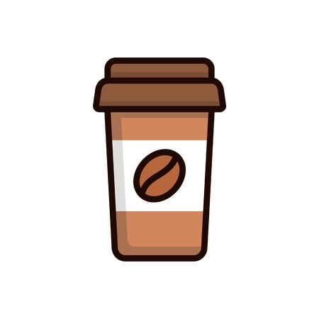A cup of coffee vector