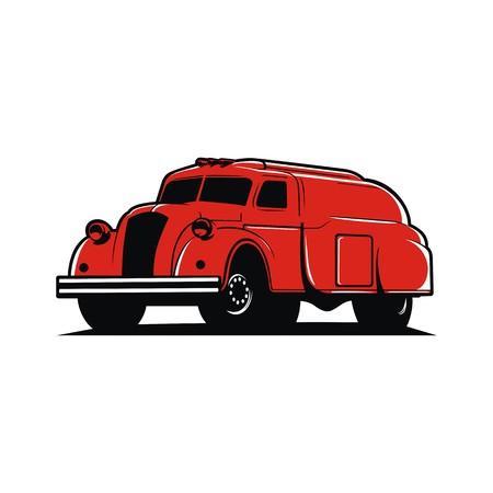 Oil truck illustration vector