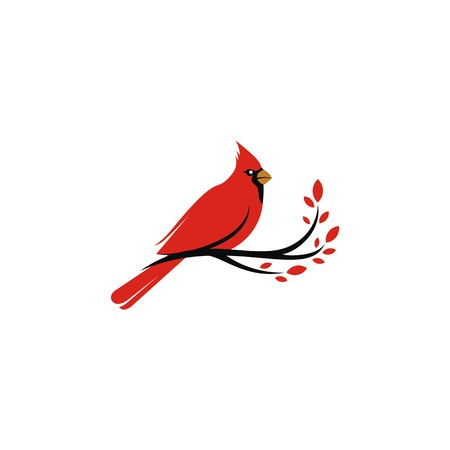 Cardinal  vector Stock Illustratie