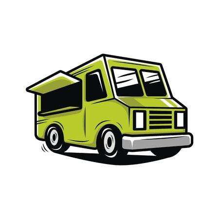 Foodtruck illustratie vector Stock Illustratie