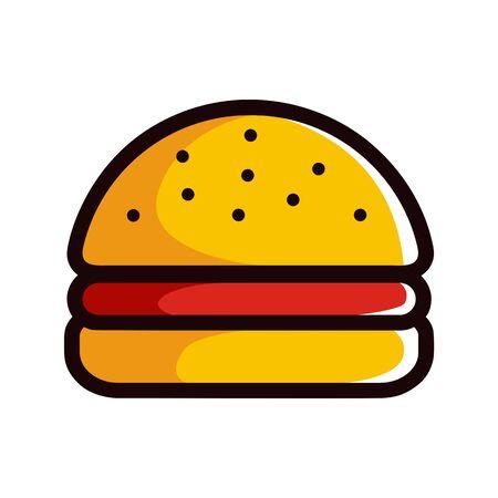 Burger illustration vector