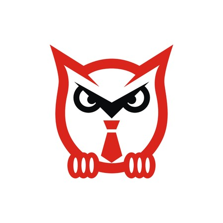 Owl logo vector Illustration